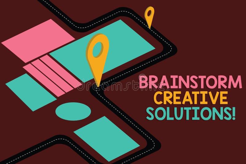 Solutions créatives de main d'écriture d'échange d'idées conceptuel d'apparence Présentation de photo d'affaires intensive et lai illustration libre de droits