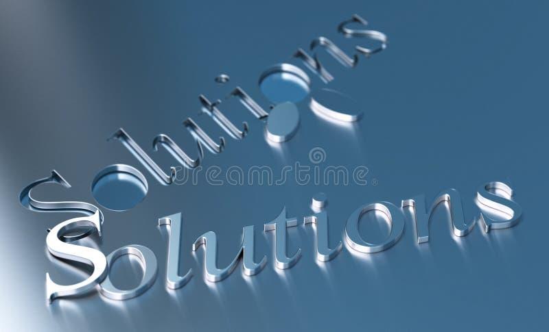 Solutions d'affaires illustration libre de droits