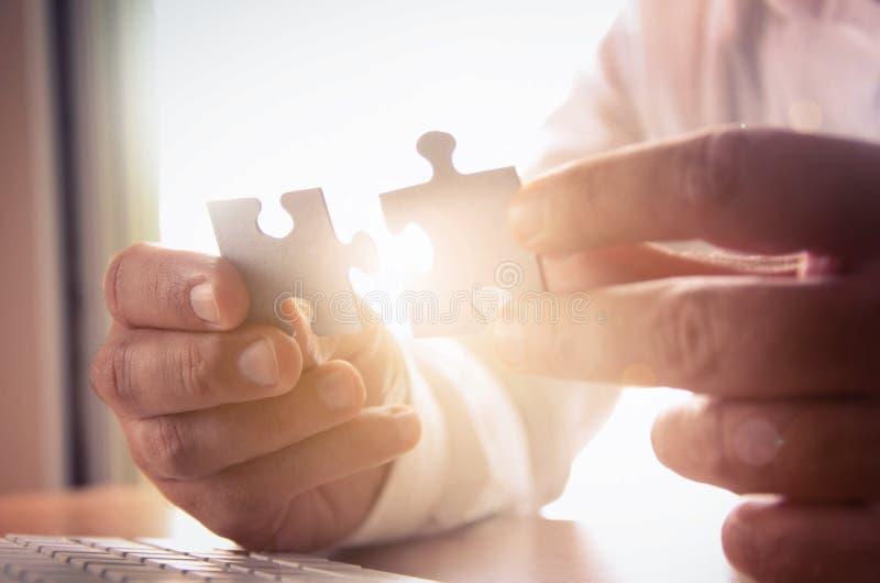 Solutions d'affaires, succès et concept de stratégie photographie stock libre de droits