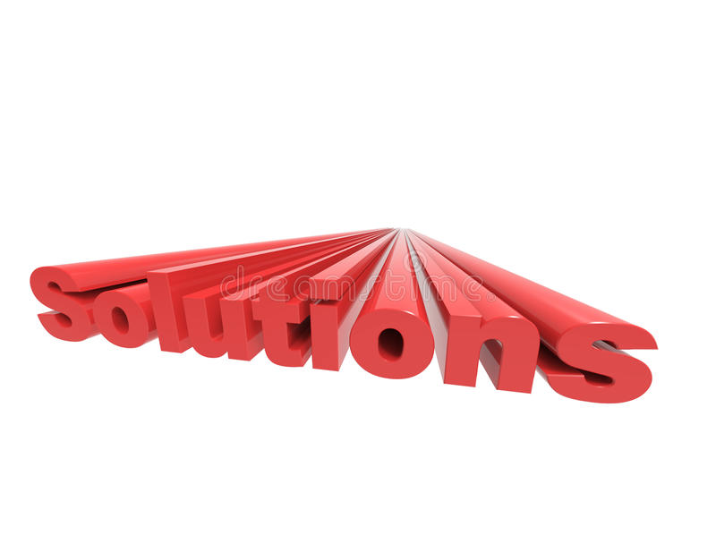 Solutions 3d word concept royalty free illustration