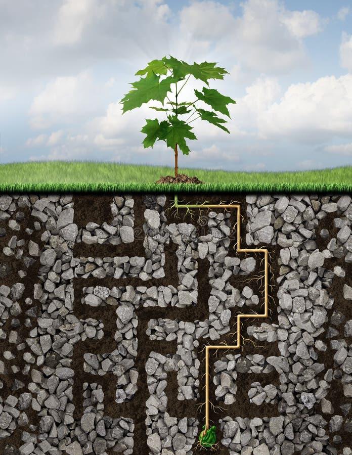 Solutions de croissance illustration stock