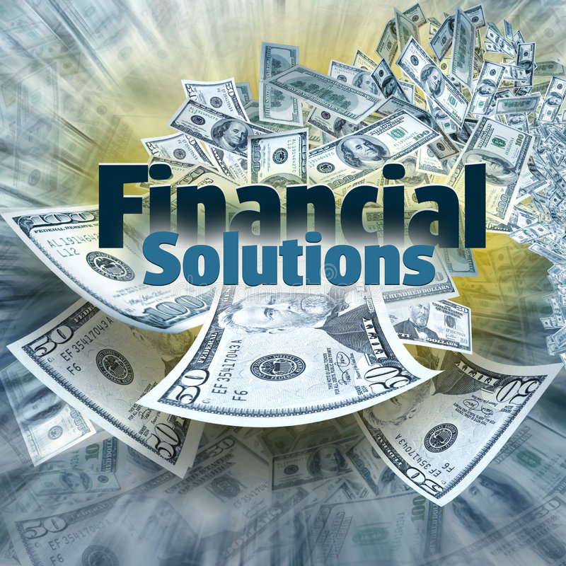 Solutions financières photo libre de droits