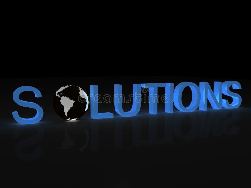 Solutions internationales illustration de vecteur