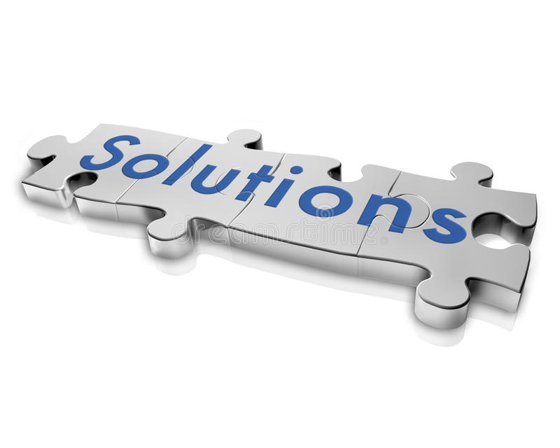 Solutions Puzzle Stock Image