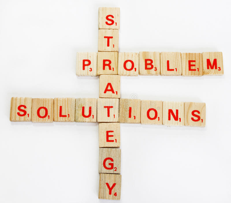 Solutions and strategy royalty free stock photos