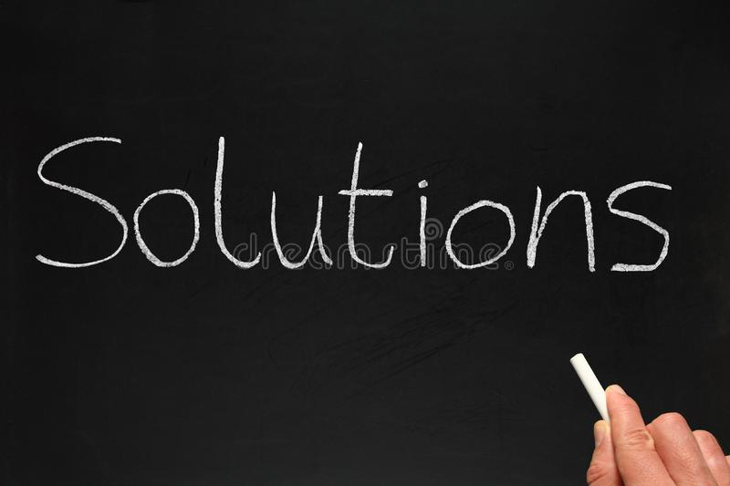 Download Solutions, Written On A Blackb Stock Image - Image: 4185423