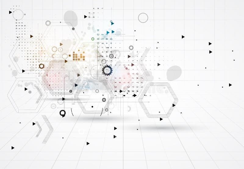 Soluzione astratta di affari di tecnologie informatiche di Internet royalty illustrazione gratis