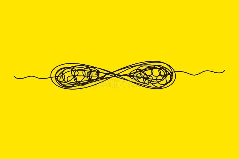Soluzione di problemi senza fine illustrazione vettoriale
