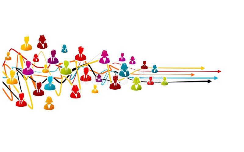 Soluzione di processo aziendale illustrazione vettoriale