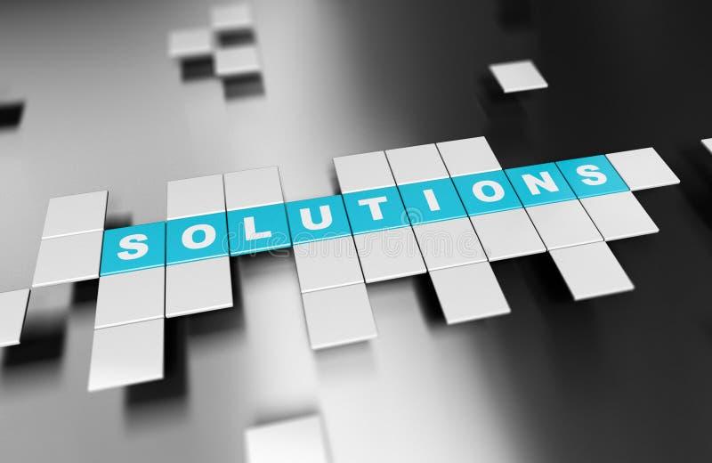 Soluzioni della costruzione, idee innovarici di affari illustrazione vettoriale