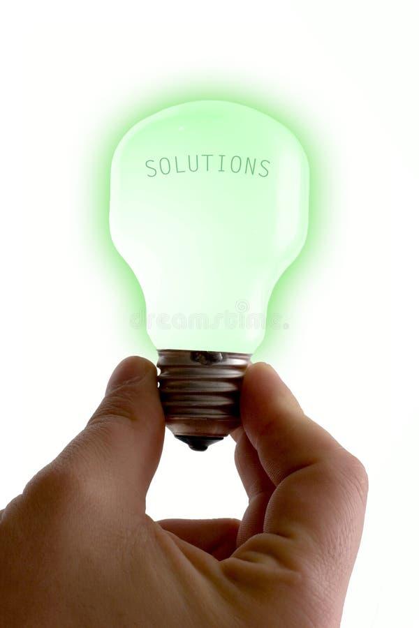 Soluzioni luminose immagine stock libera da diritti