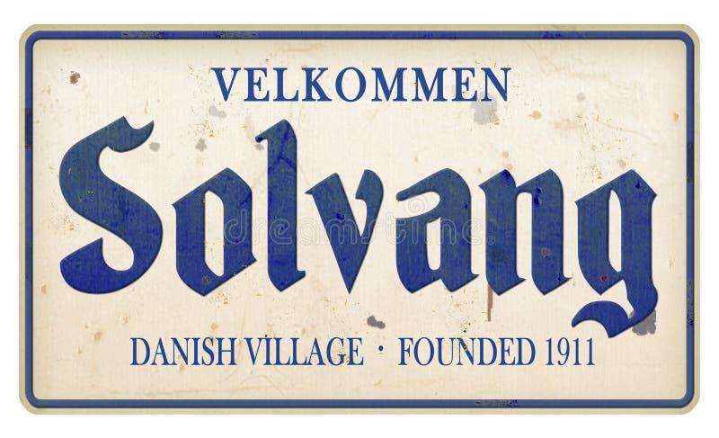 Solvang加利福尼亚可喜的迹象丹麦村庄 免版税库存照片
