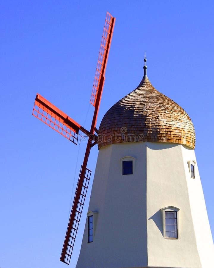 solvang风车 库存照片