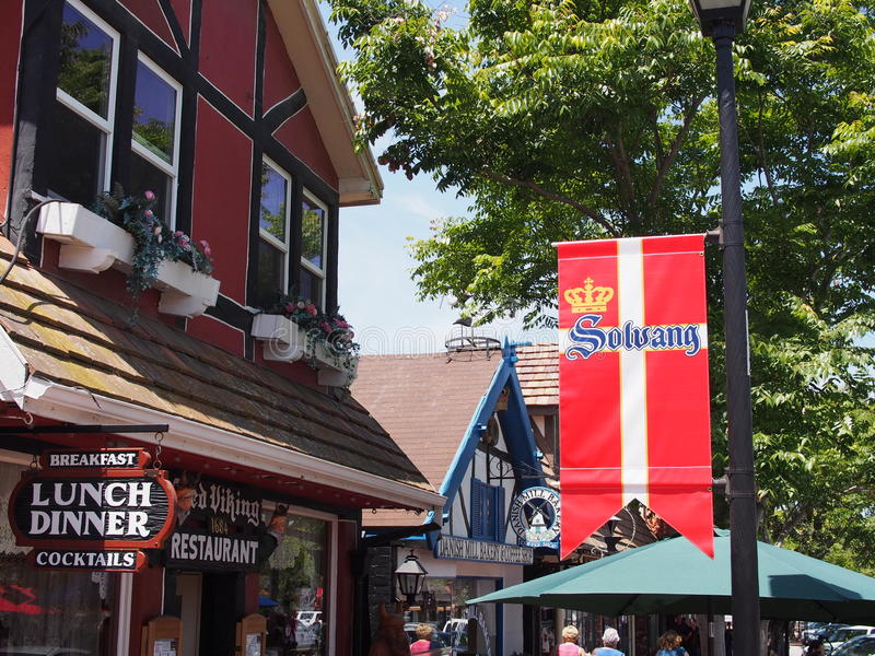 Solvang California stock photo
