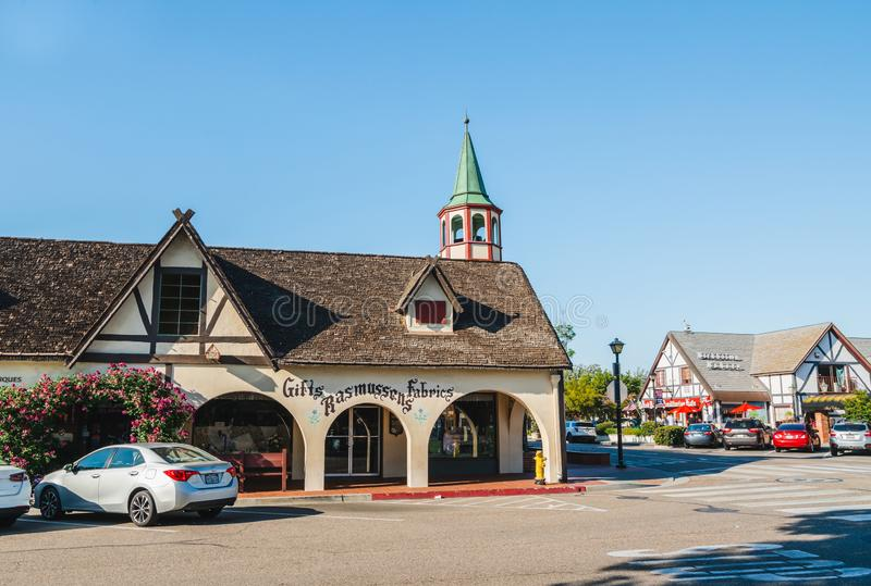 Solvang, California. Street View. Architecture Reflects Traditional Danish Style royalty free stock photography
