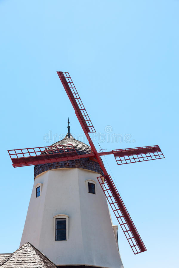 SOLVANG, CALIFORNIA/USA - AUGUST 9 : Windmill in Solvang California on August 9, 2011 royalty free stock photo