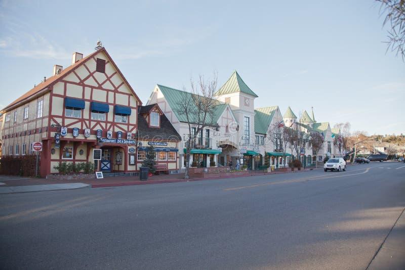 Solvang - Danish town in california royalty free stock images