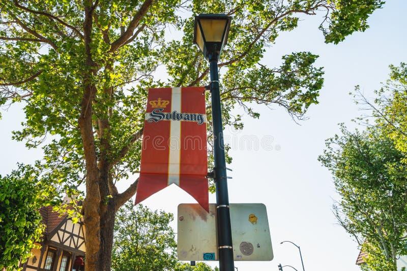 Solvang, Deens Dorp in Californië Beroemde toeristische bestemming royalty-vrije stock foto