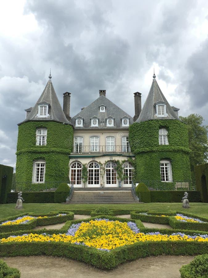 Solvay castle in La Hulpe, Belgium. royalty free stock images