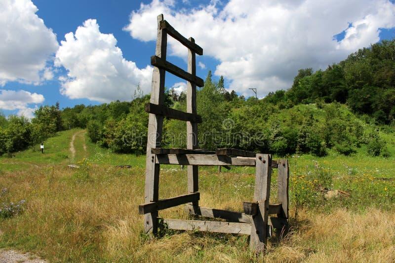 Solvay-` s Steinbruch-Tschechische Republik lizenzfreie stockfotos
