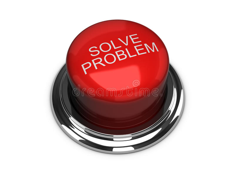 Solve the problem button. Isolated on the white royalty free illustration