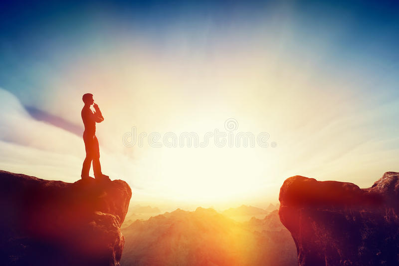 Solve the problem, think about solution, challenge concept. stock photo