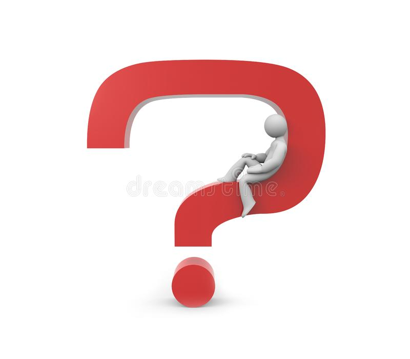 The solved question royalty free stock image