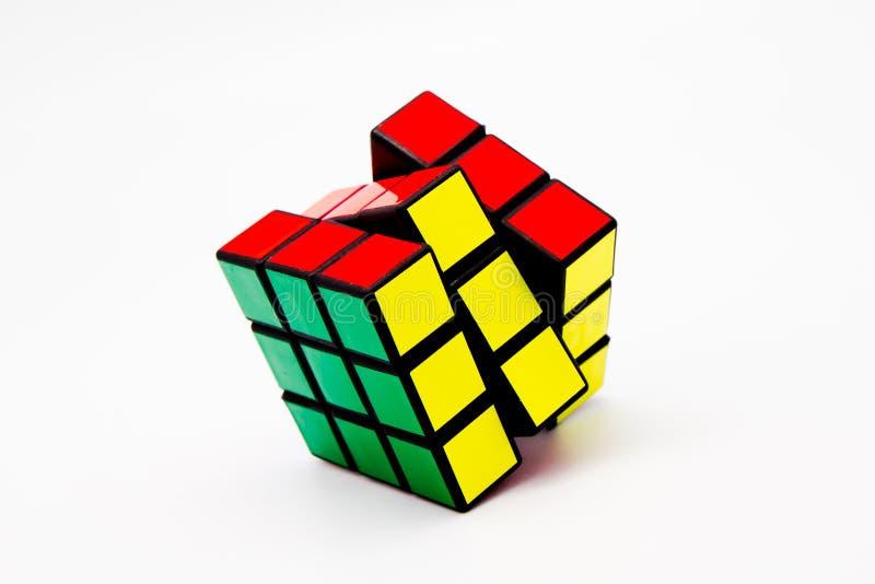 Solved Rubik's Cube stock photo