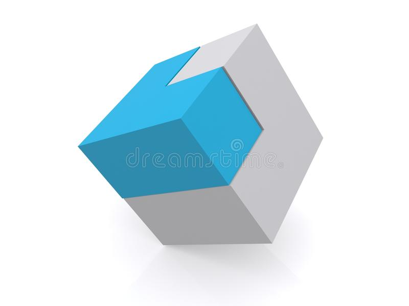 Solved square puzzle royalty free illustration