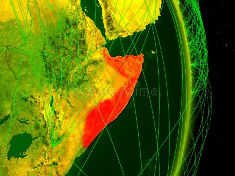 Somália na terra digital ilustração stock