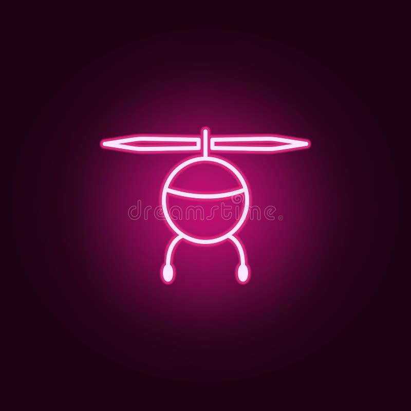 som är kan planlägga den använda logotypen för logoen för elementhelikoptersymbolen Beståndsdelar av surr i neonstilsymboler Enke vektor illustrationer