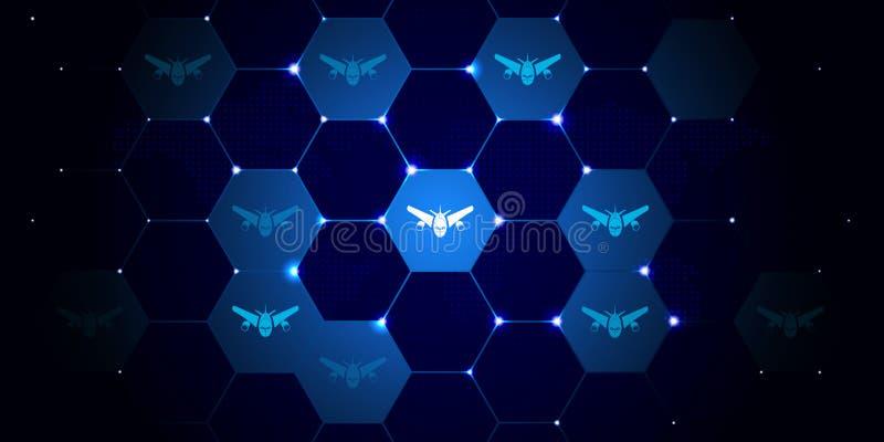som är kan planlägga den använda logotypen för logoen för elementhelikoptersymbolen Från flygtransportuppsättning stock illustrationer