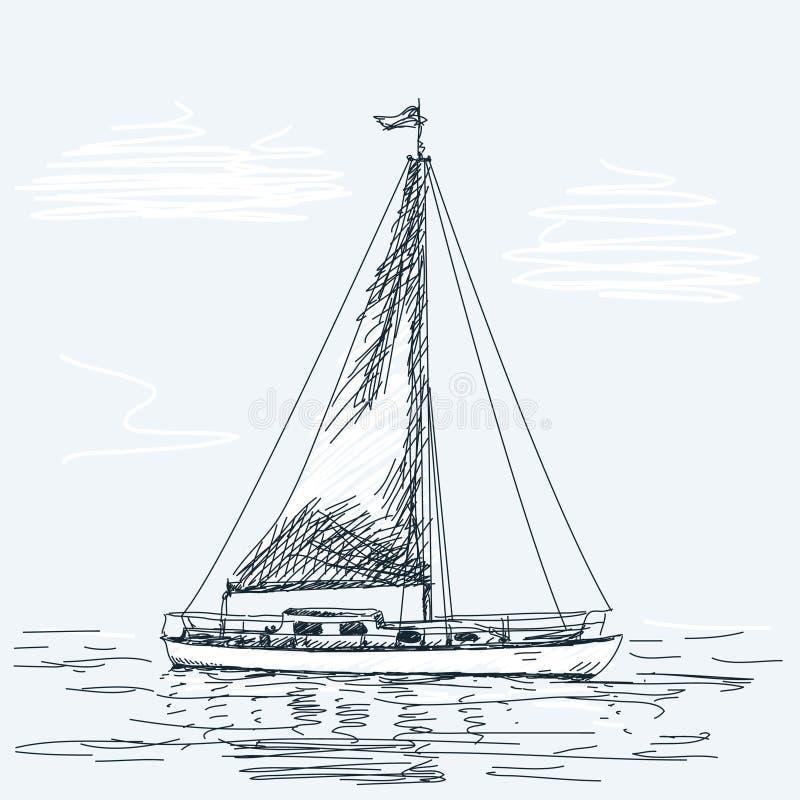 som bakgrund är blå, kan fartygfartyg klubba mörka etc stock illustrationer