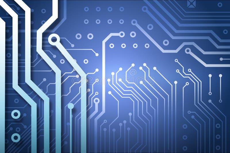 som bakgrundsbrädet kan circuit bruk stock illustrationer
