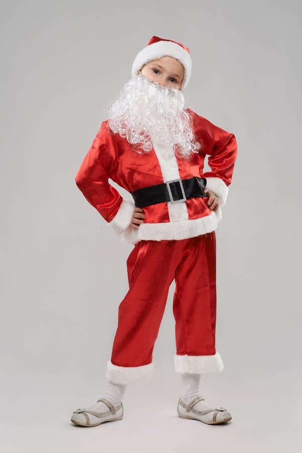 som barnet claus klädde santa arkivfoton