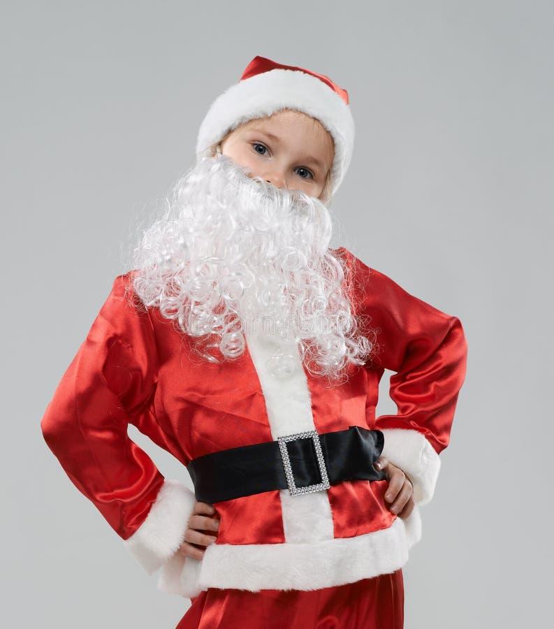 som barnet claus klädde santa arkivbilder
