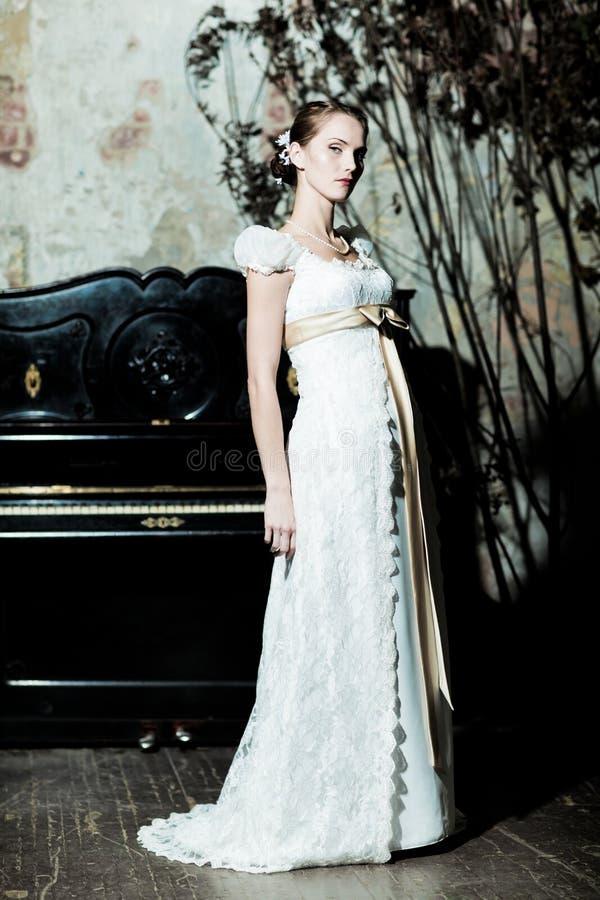 som brud klädd kvinna royaltyfria bilder