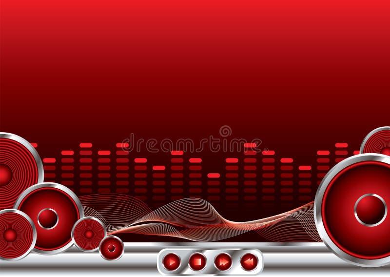 Som da música ilustração do vetor