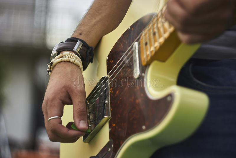 Som da música rock imagens de stock