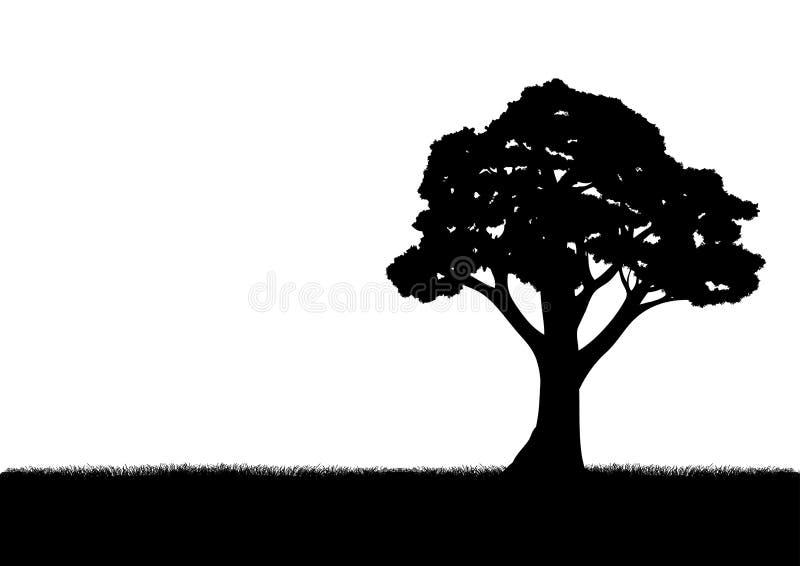 som design inkorporerat bruk för silhouettetexturtree royaltyfri illustrationer