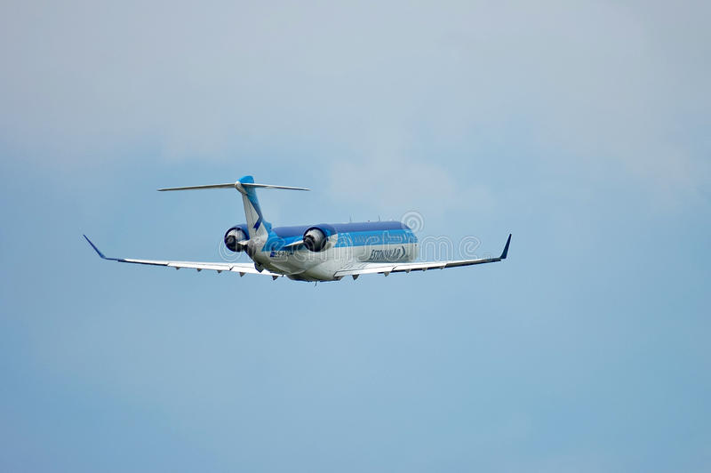 SOM Estonian Air Canadair CL-600 royaltyfri bild