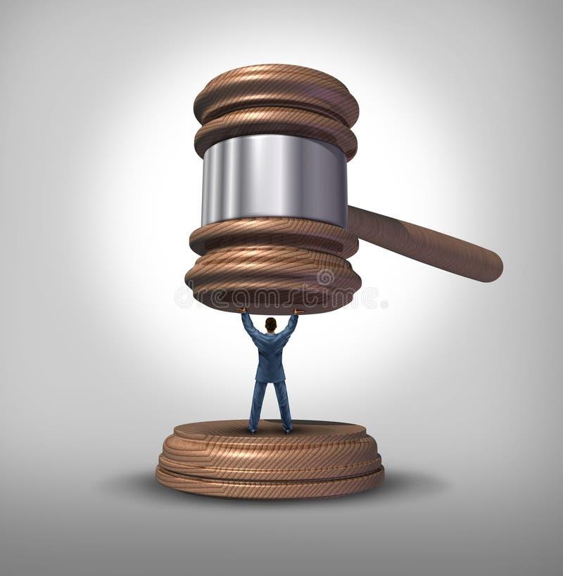 som för metaforavsnitt för lag lagliga begränsningar för regleringar för protectiveness för skydd kämpar symbol royaltyfri illustrationer