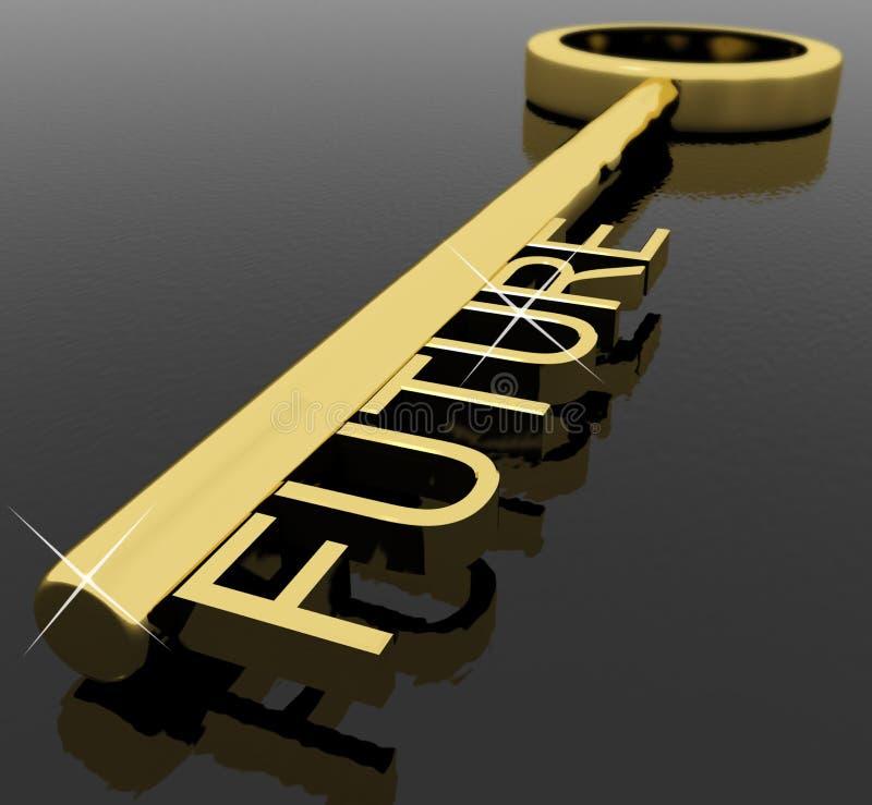som framtida key symboltext för öde royaltyfri illustrationer