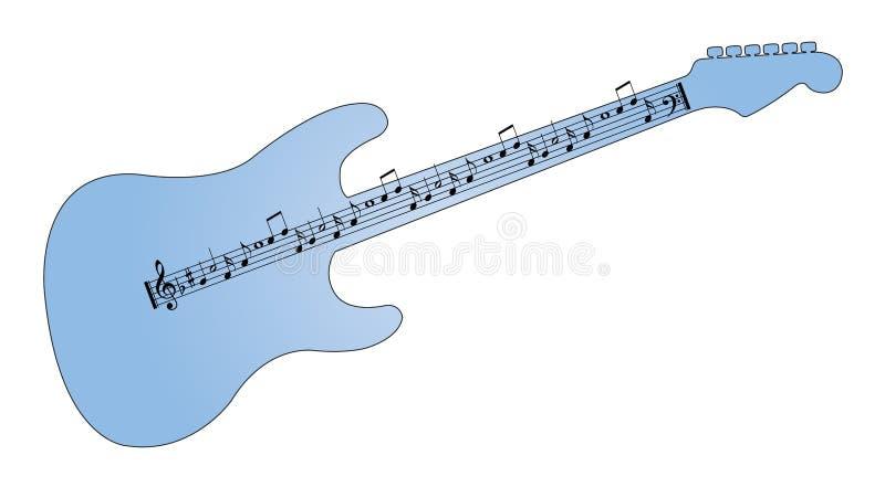 som gitarrmusikalen bemärker song stock illustrationer