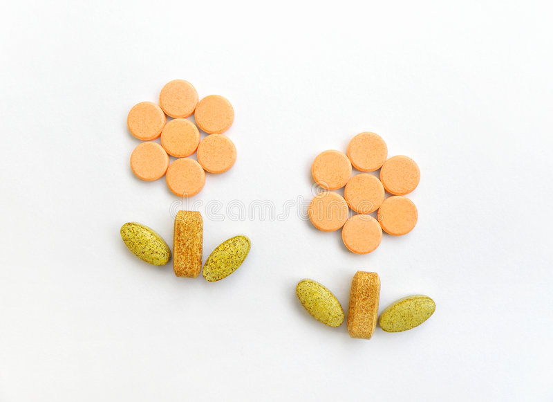 som hälsa planterar supplementsvitaminer arkivbild