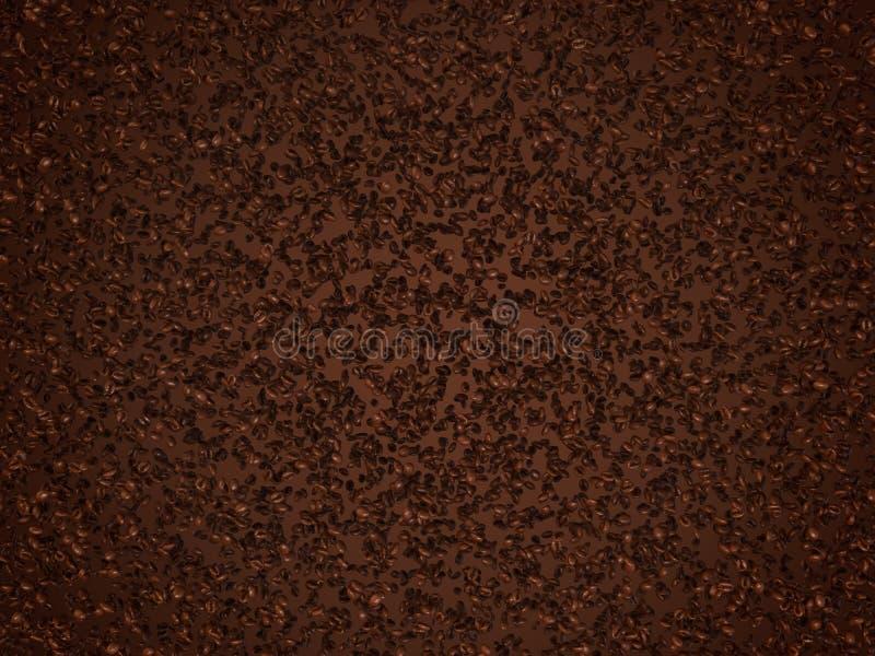 som kaffe praktisk grillad textur stock illustrationer