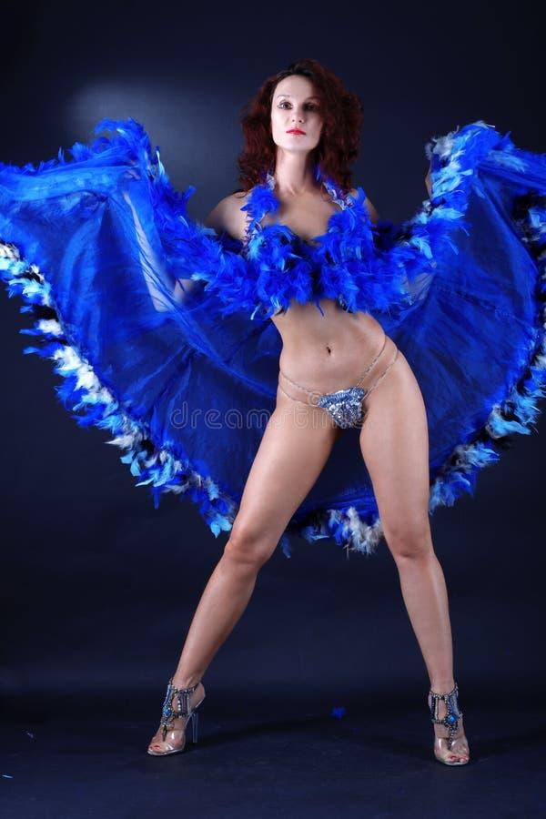 som klassisk dansarefransman för kabaret arkivfoto
