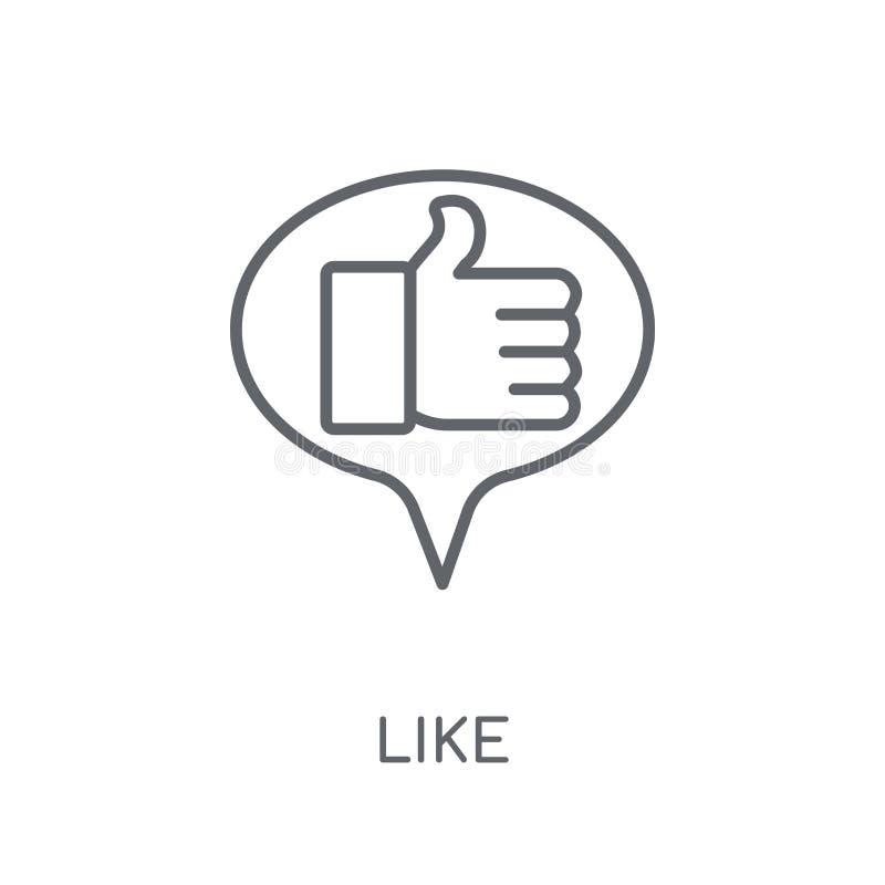 Som linjär symbol Modern översikt som logobegrepp på vit baksida vektor illustrationer