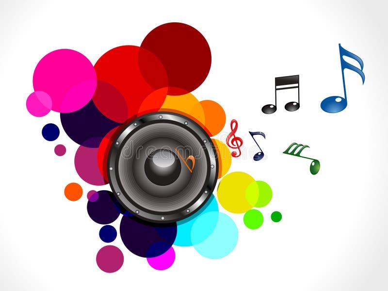 Som musical colorido abstrato ilustração stock