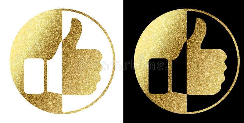 Som oss i guld- royaltyfri illustrationer